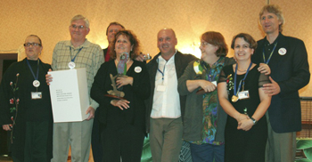 LEFT TO RIGHT: Suzan Payne, Larry Clifford, Mark Hagen (behind), Michelle Aubin, Neville Connors, Sally Blanchard, Nathalie Lemieux and Dr. Branson Ritchie.